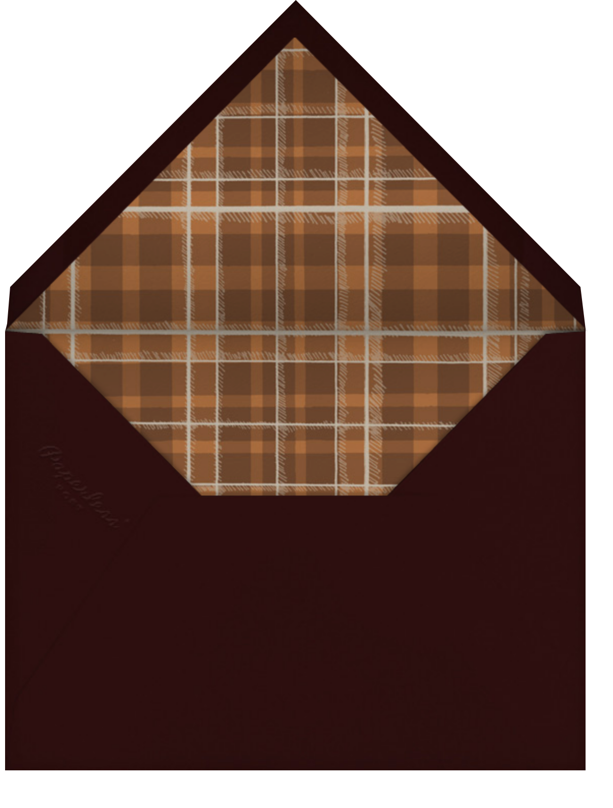 Quail and Scarf - Chipboard - Paperless Post - Sports - envelope back