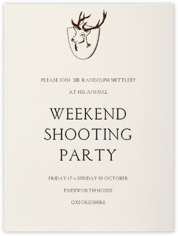 Stag - Paperless Post - Online Party Invitations