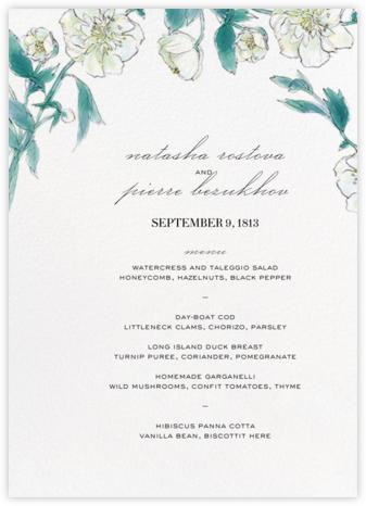 Ikebana (Menu) - White - Paperless Post - Wedding menus and programs - available in paper