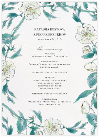 Ikebana (Program) - White - Paperless Post - Wedding menus and programs - available in paper
