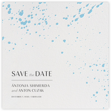 Splatter Cloth II (Save the Date) - Light Blue - Paperless Post - Save the dates