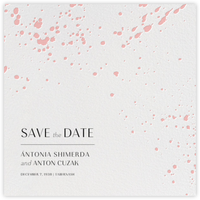 Splatter Cloth II (Save the Date) - Pavlova - Paperless Post - Save the dates