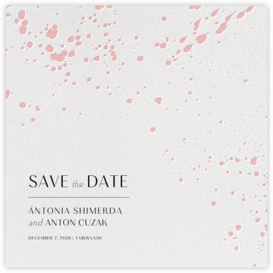 Splatter Cloth II (Save the Date) - Pavlova - Paperless Post - Modern save the dates