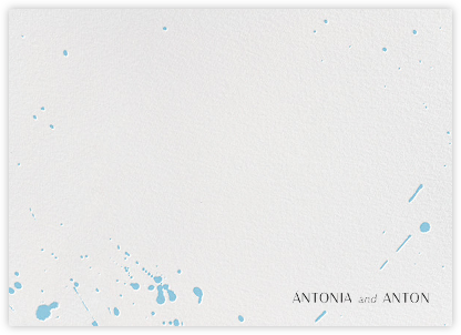 Splatter Cloth II (Stationery) - Light Blue - Paperless Post - Personalized Stationery