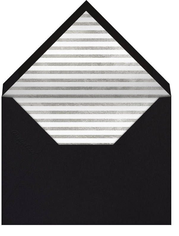 Decade (Twenty-Five) - Silver - Paperless Post - Anniversary party - envelope back