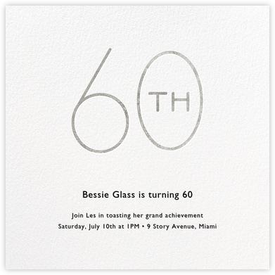 Decade (Sixty) - Silver - Paperless Post - Milestone birthday invitations