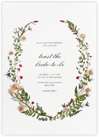 Fleurs Sauvages - Paperless Post - Bridal shower invitations