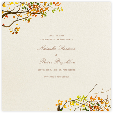 Autumn Boughs (Save the Date) - Felix Doolittle - Save the dates