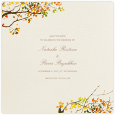 Autumn Boughs (Save the Date)
