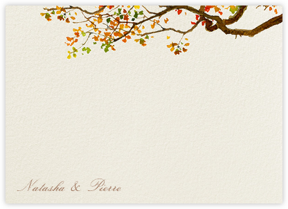 Autumn Boughs (Stationery) - Felix Doolittle - Personalized stationery
