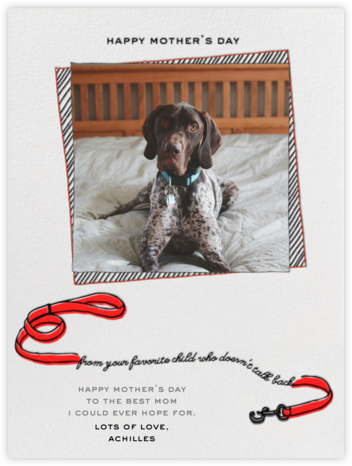 Your Favorite Child - Red - Paperless Post - Mother's Day Cards