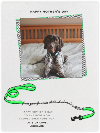 Your Favorite Child - Green - Paperless Post - Mother's Day Cards