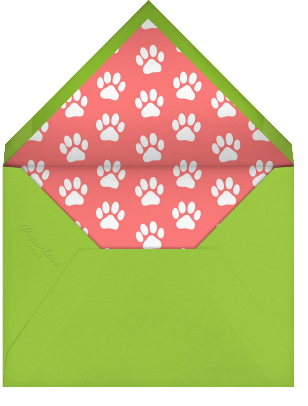 Happy Pawlidays - Paperless Post - Holiday cards - envelope back