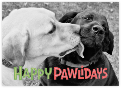 Happy Pawlidays - Paperless Post - Holiday Cards