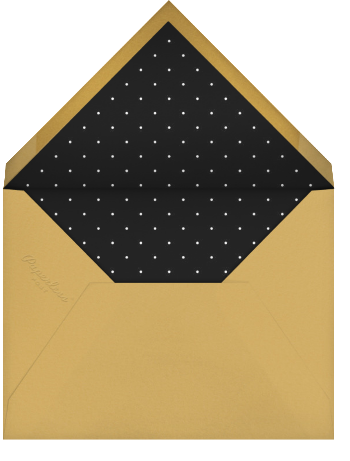 More Fun It Is - Gold - Paperless Post - Holiday cards - envelope back