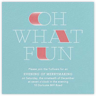 Extended Fun - Blue - Paperless Post - Holiday invitations