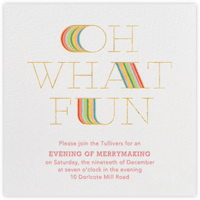 Extended Fun - Gold - Paperless Post - Invitations