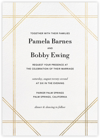 Caning - Gold - Jonathan Adler - Wedding Invitations