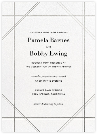 Caning - Silver - Jonathan Adler - Wedding Invitations