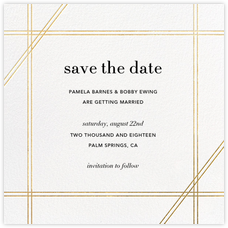 Caning (Save the Date) - Gold