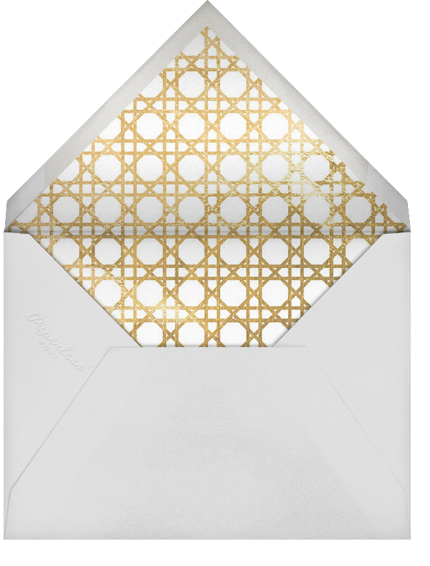 Caning (Save the Date) - Gold - Jonathan Adler - Classic  - envelope back