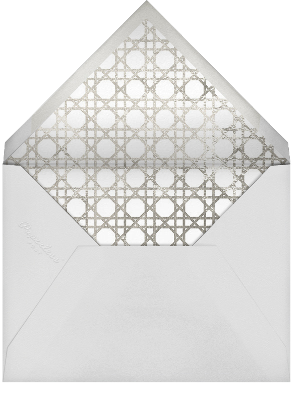 Caning (Save the Date) - Silver - Jonathan Adler - Save the date - envelope back