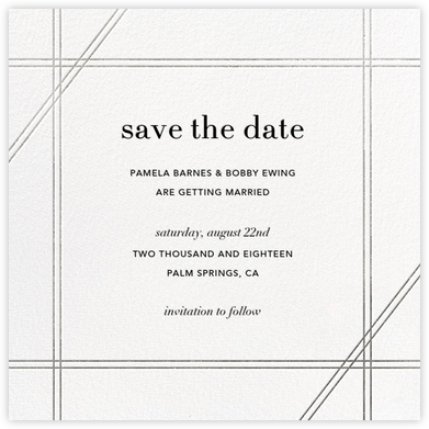 Caning (Save the Date) - Silver - Jonathan Adler - Save the dates