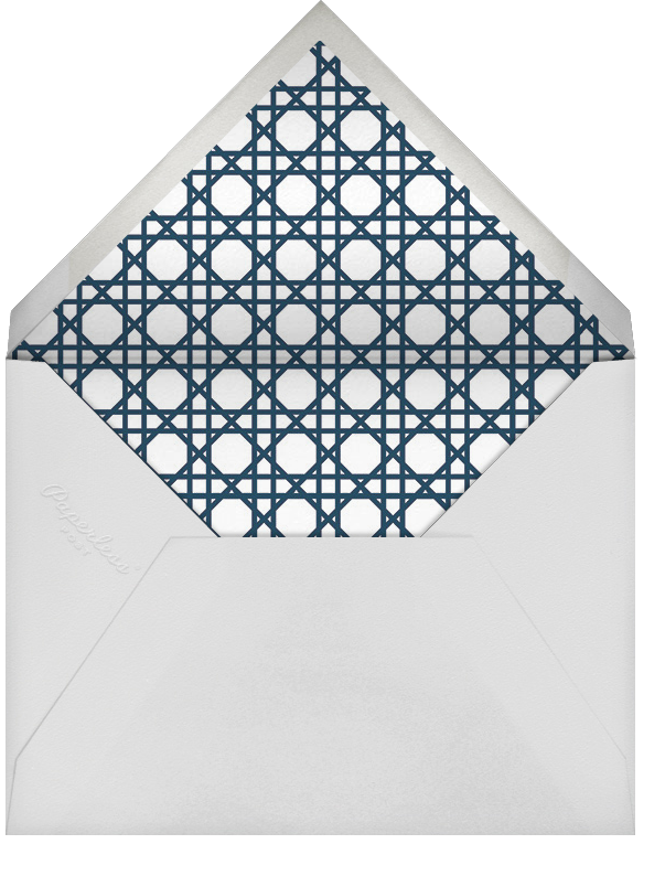 Caning (Save the Date) - Navy - Jonathan Adler - Save the date - envelope back