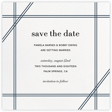 Caning (Save the Date) - Navy | null