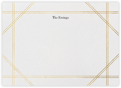 Caning (Stationery) - Gold - Jonathan Adler - Personalized Stationery