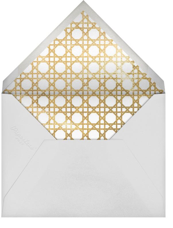 Caning (Stationery) - Gold - Jonathan Adler - Personalized stationery - envelope back