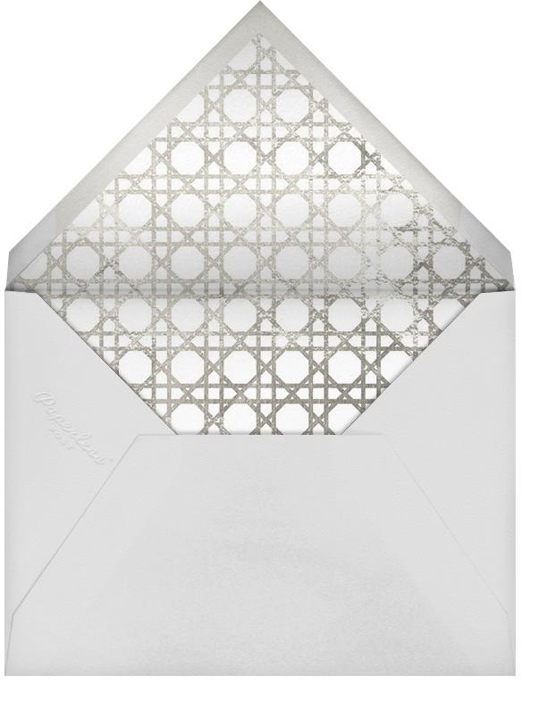 Caning (Stationery) - Silver - Jonathan Adler - Personalized stationery - envelope back