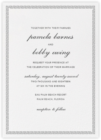 Meander - Jonathan Adler - Wedding Invitations