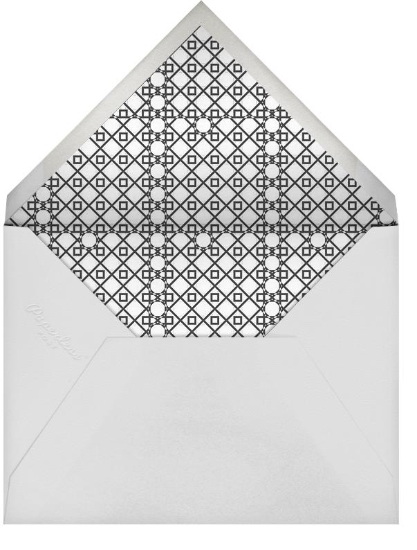 Mr. Stache and Ms. Lips (Wedding Stationery) - Gray - Jonathan Adler - null - envelope back