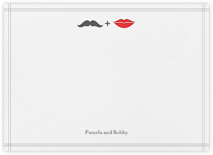 Mr. Stache and Ms. Lips (Wedding Stationery) - Gray | null