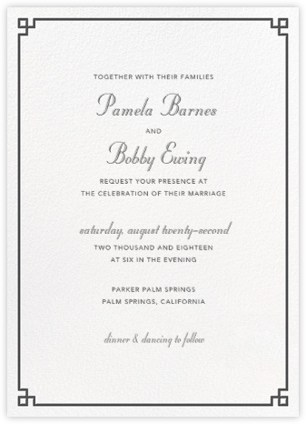 Nixon Border - Jonathan Adler - Wedding invitations
