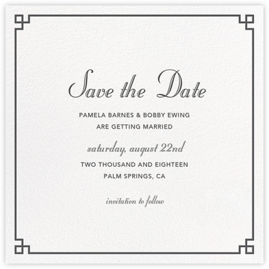 Nixon Border (Save the Date) - Jonathan Adler - Jonathan Adler