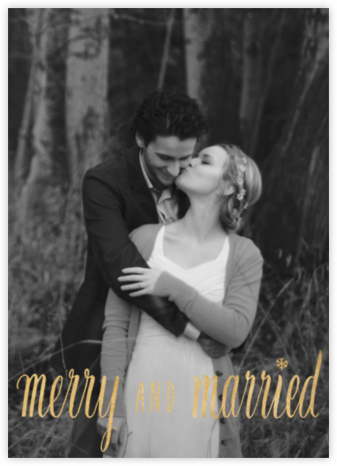 Merry and Married - Gold - Paperless Post -