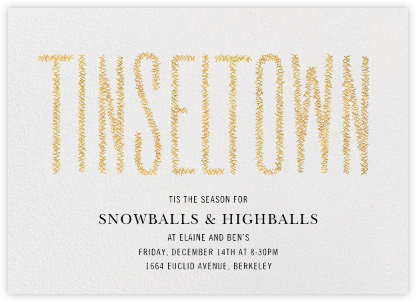 Tinseltown - Gold - Paperless Post - Winter Party Invitations