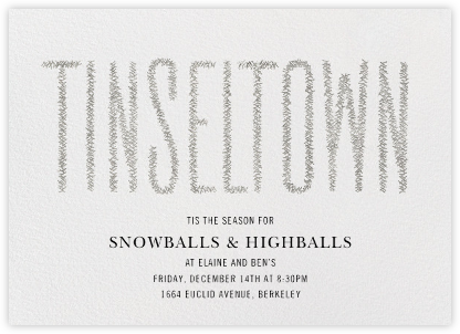 Tinseltown - Silver - Paperless Post - Holiday invitations