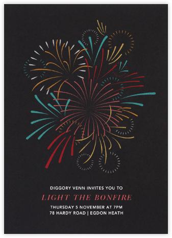 Skybursts - Paperless Post - Bonfire Night Invitations