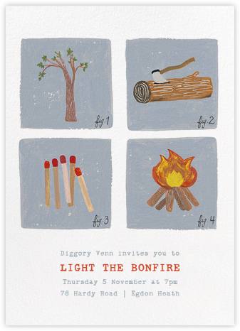 How to Build a Fire Invitation - Paperless Post -
