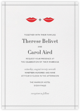 Ms. and Ms. Lips - Red - Jonathan Adler - Wedding Invitations