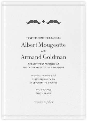 Mr. and Mr. Stache - Gray - Jonathan Adler - Jonathan Adler