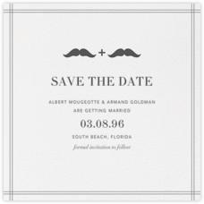Mr. and Mr. Stache (Save the Date) - Gray