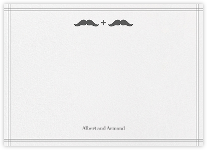 Mr. and Mr. Stache (Wedding Stationery) - Gray - Jonathan Adler -