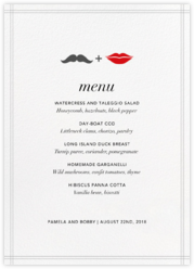 Mr. Stache and Ms. Lips (Menu)