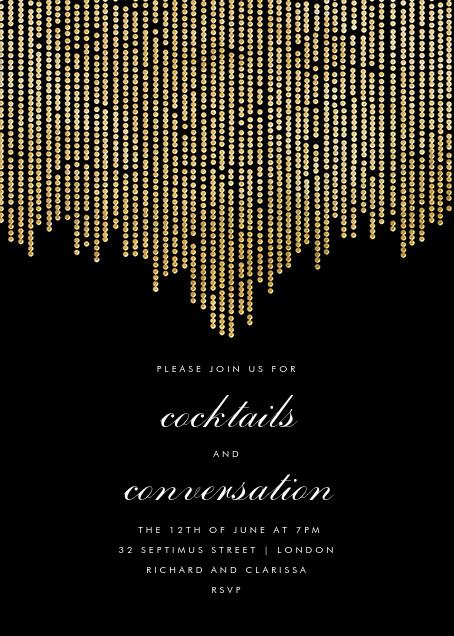 Josephine Baker - Black/Gold - Paperless Post - General entertaining