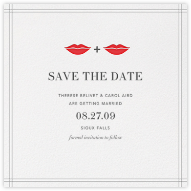 Ms. and Ms. Lips (Save the Date) - Gray - Jonathan Adler - Save the dates