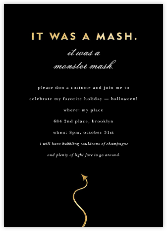 Halloween Mash - kate spade new york - Halloween invitations